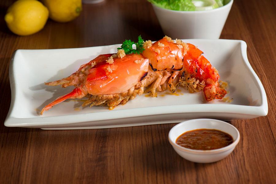越式烧生虾 Grilled Fresh Prawn in Vietnam Style