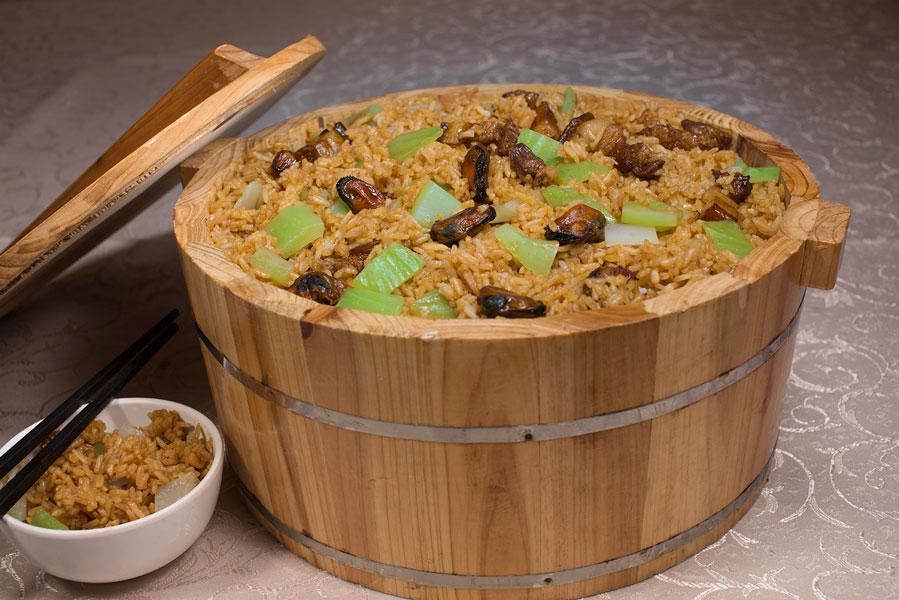 蚝皇芥菜饭 Homemade Rice With Dry Oyster & Mustard